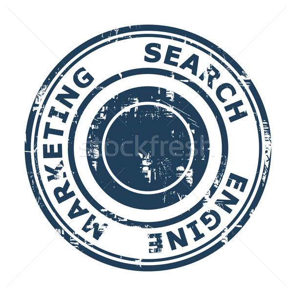 Zoekmachine marketing stempel geïsoleerd witte business Stockfoto © speedfighter