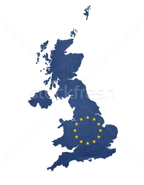 Bandiera mappa Regno Unito isolato bianco Foto d'archivio © speedfighter