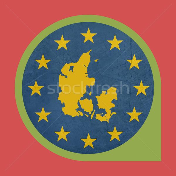 Europese unie Denemarken fiche knop geïsoleerd Stockfoto © speedfighter