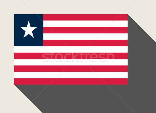 Libéria pavillon web design style carte bouton Photo stock © speedfighter
