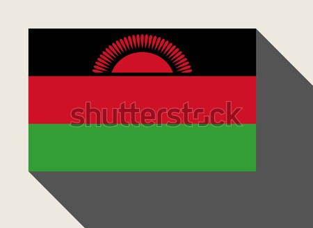 Malawi vlag web design stijl kaart knop Stockfoto © speedfighter