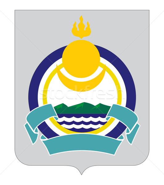 Buryatiya coat of arms Stock photo © speedfighter