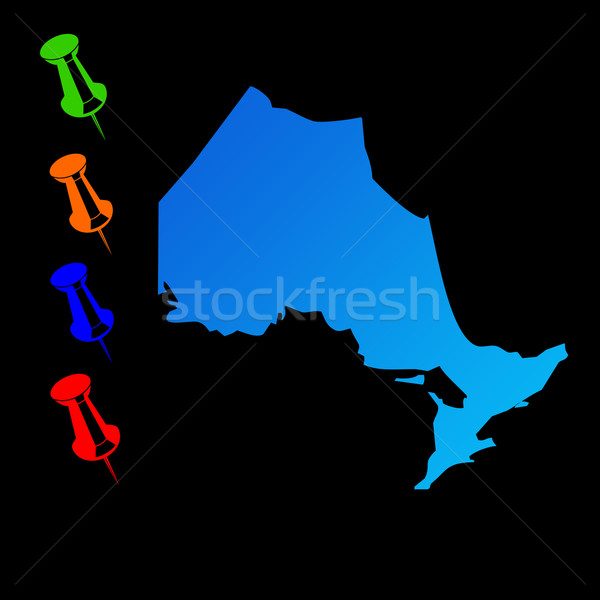Ontario travel map Stock photo © speedfighter