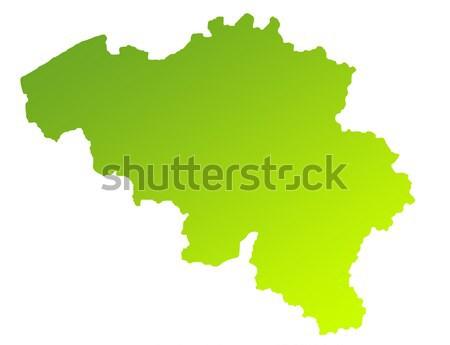 Oude groene papier kaart Ecuador geïsoleerd Stockfoto © speedfighter