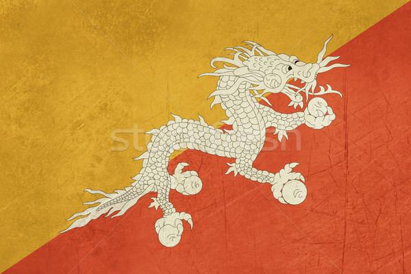 Grunge Butão bandeira país oficial cores Foto stock © speedfighter