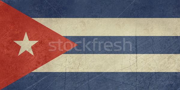 Grunge Cuba Flag Stock photo © speedfighter