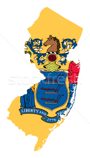 State of New Jersey flag map Stock photo © speedfighter