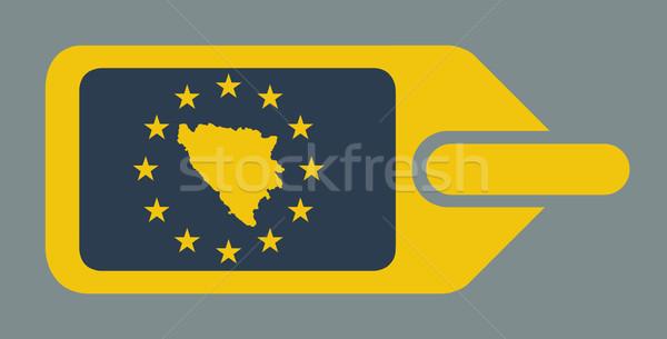 Bosnia Herzegovina europeo equipaje etiqueta viaje etiqueta Foto stock © speedfighter