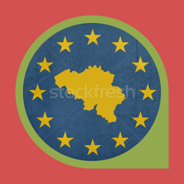 Europeo Unión Bélgica marcador pin aislado Foto stock © speedfighter