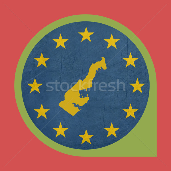 Europeu união Mônaco marcador botão isolado Foto stock © speedfighter