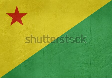 Grunge state flag of Acre in Brazil Stock photo © speedfighter