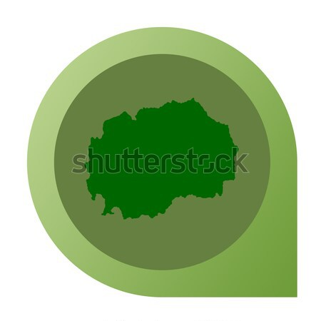 Isolated Belarus map marker pin Stock photo © speedfighter