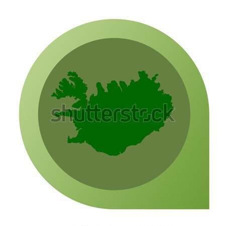 Stock photo: Isolated Iceland map marker pin