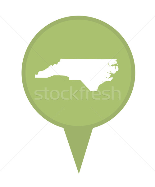 North Carolina kaart pin amerikaanse fiche geïsoleerd Stockfoto © speedfighter