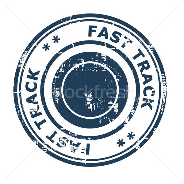 Rápido tema negocios aislado blanco Foto stock © speedfighter