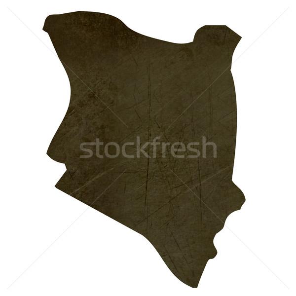 暗い 地図 ケニア 孤立した 白 ストックフォト © speedfighter
