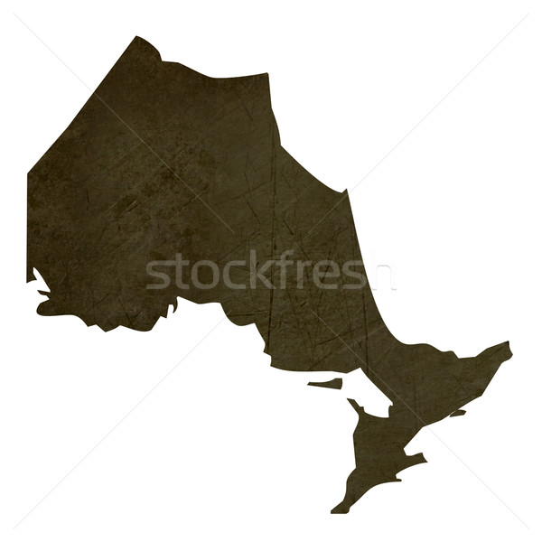 Dark silhouetted map of Quebec Stock photo © speedfighter