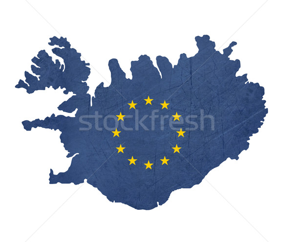 European flag map of Iceland Stock photo © speedfighter