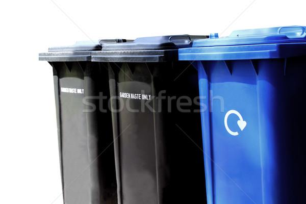 Stock photo: Recycling waste bins