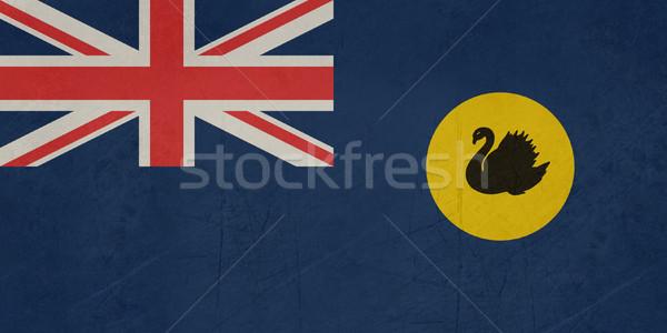 Stok fotoğraf: Grunge · batı · Avustralya · bayrak