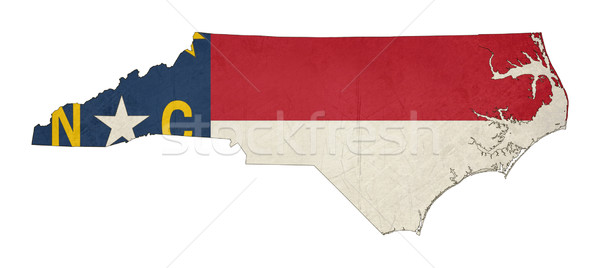 Grunge North Carolina vlag kaart geïsoleerd witte Stockfoto © speedfighter