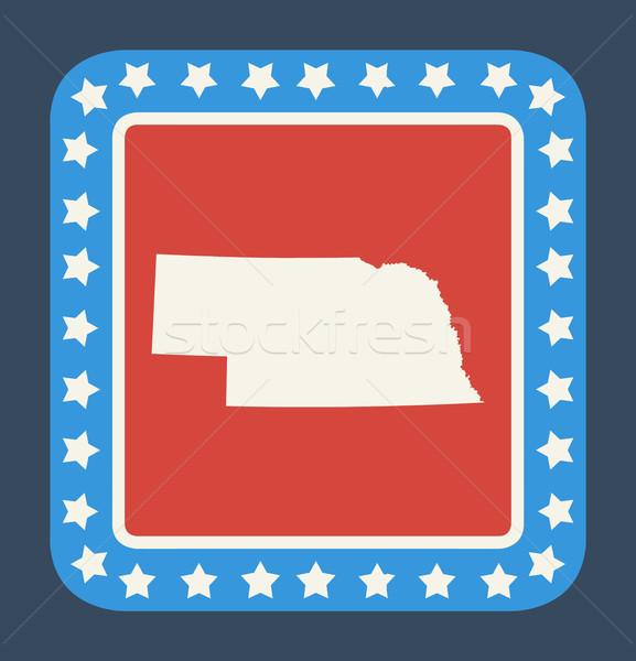 Nebraska pulsante bandiera americana web design stile isolato Foto d'archivio © speedfighter