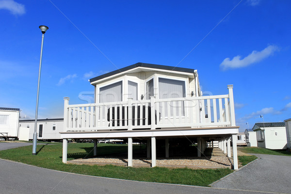 Scenic view of caravan park Stock photo © speedfighter
