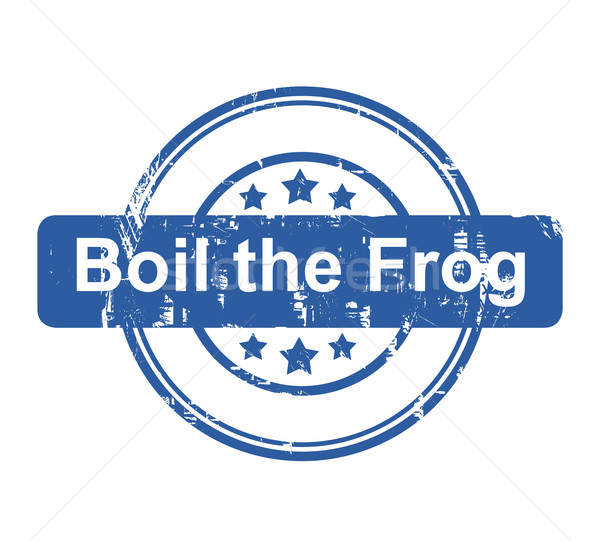Boil the frog business concept stamp Stock photo © speedfighter
