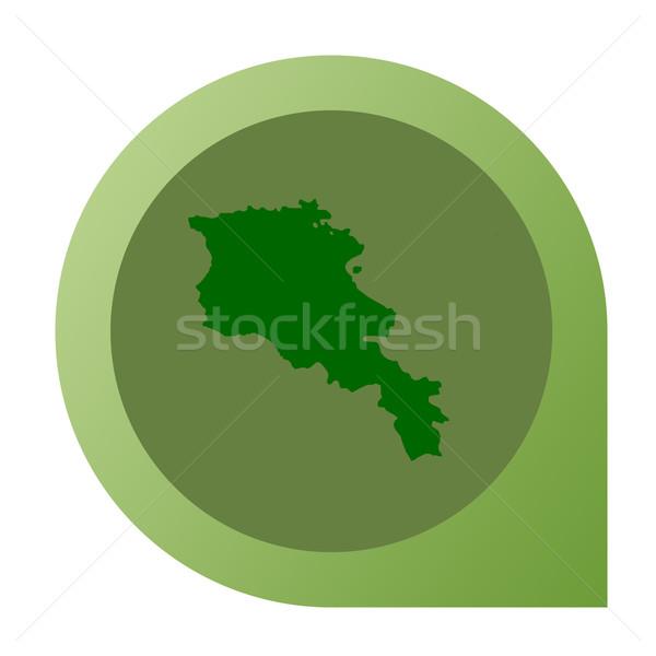 Isolated Armenia map marker pin Stock photo © speedfighter