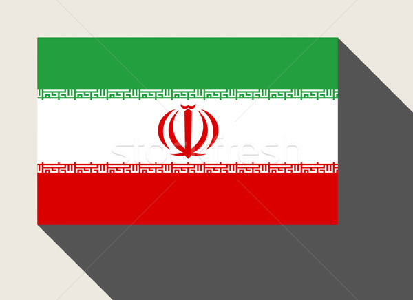 Irán zászló web design stílus térkép gomb Stock fotó © speedfighter