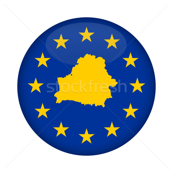 Belarus map European Union flag button Stock photo © speedfighter