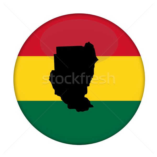 Sudan map on a Rastafarian flag button Stock photo © speedfighter