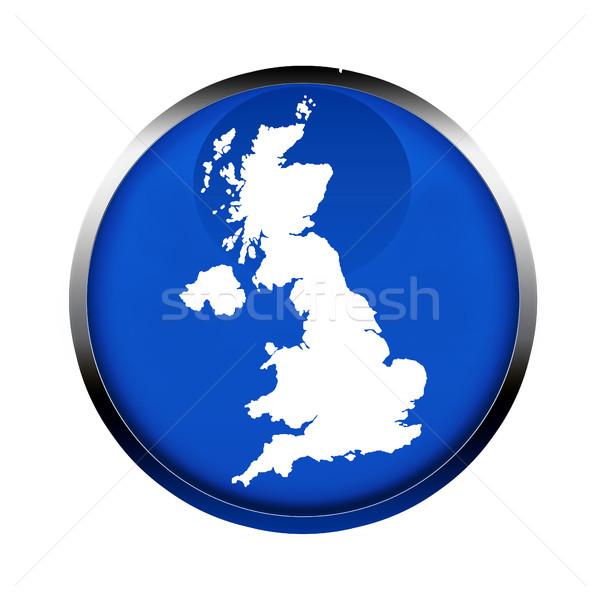 United Kingdom map button Stock photo © speedfighter