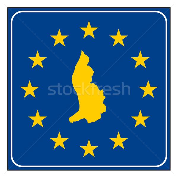 Liechtenstein pulsante mappa blu Foto d'archivio © speedfighter