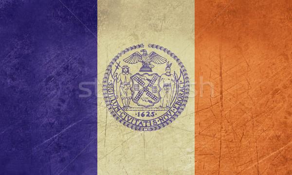 Zdjęcia stock: Grunge · Nowy · Jork · banderą · USA · podróży · Ameryki
