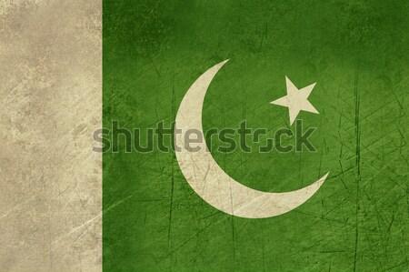 Grunge Pakistan bayrak ülke resmi renkler Stok fotoğraf © speedfighter