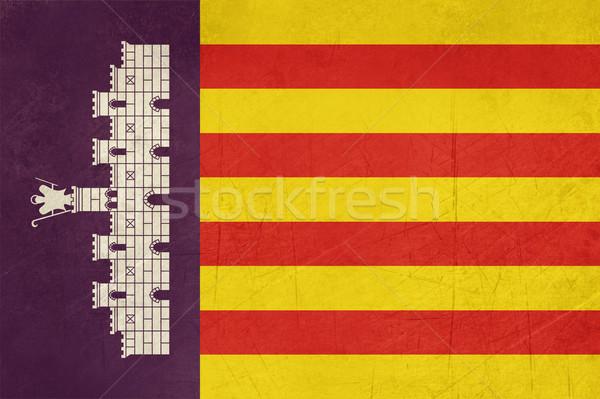 Grunge Majorca Island flag Stock photo © speedfighter