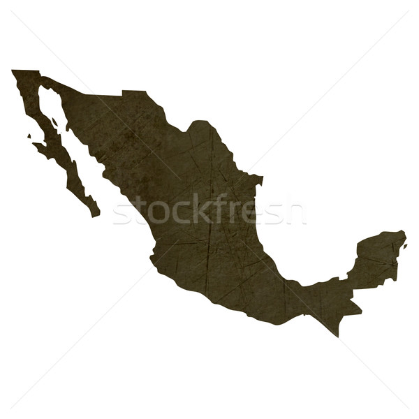 Dark silhouetted map of Mexico Stock photo © speedfighter