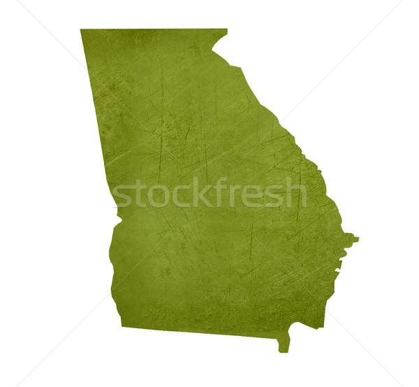 Geórgia americano isolado branco mapa Foto stock © speedfighter