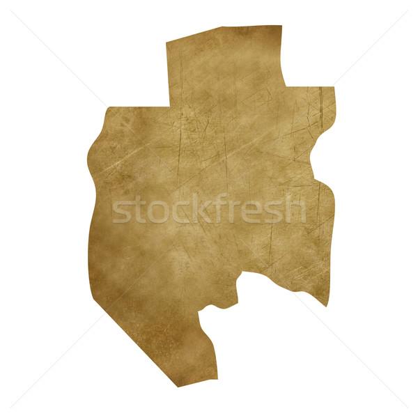 Gabon grunge mappa del tesoro mappa tesoro stile Foto d'archivio © speedfighter