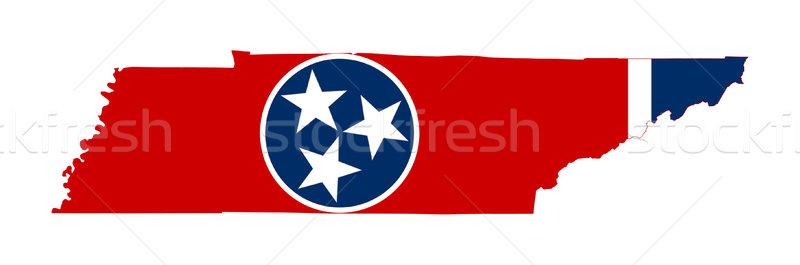 Tennessee banderą Pokaż odizolowany biały USA Zdjęcia stock © speedfighter