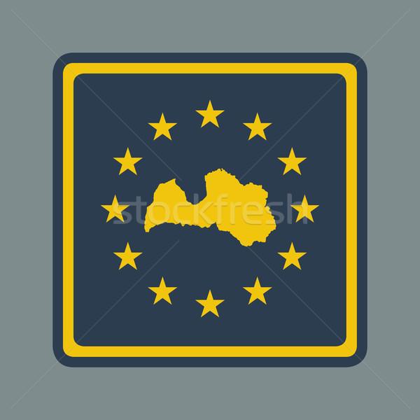 Lettország európai zászló gomb reszponzív web design Stock fotó © speedfighter