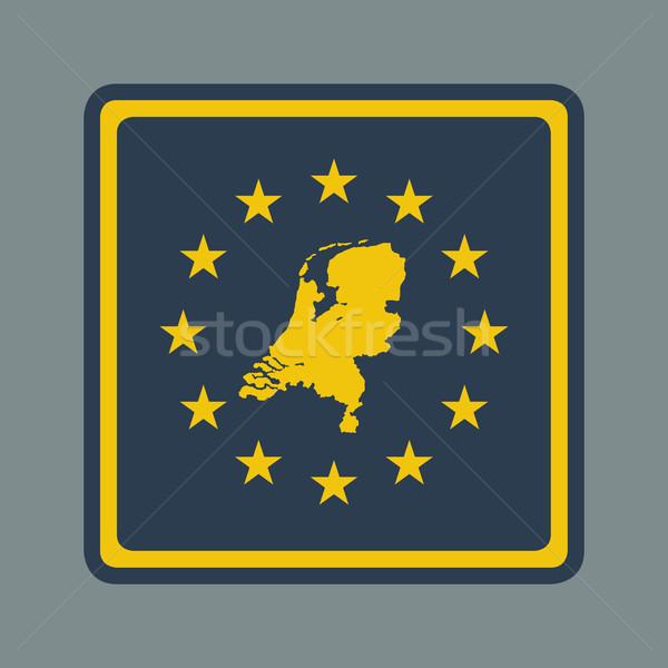 Hollandia európai zászló gomb reszponzív web design Stock fotó © speedfighter