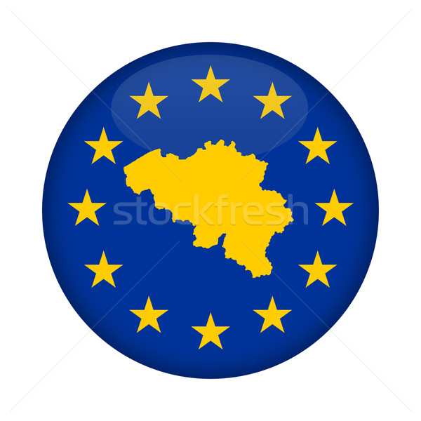 Belgium map European Union flag button Stock photo © speedfighter