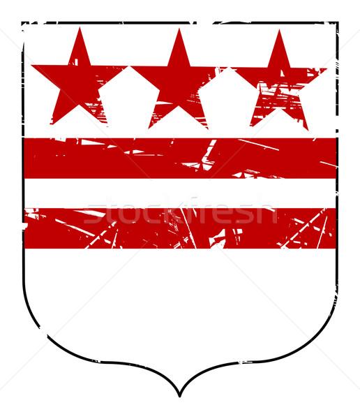 Washington kabát karok zászló izolált fehér Stock fotó © speedfighter