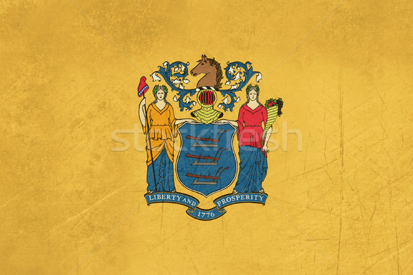 Grunge New Jersey vlag illustratie Verenigde Staten amerika Stockfoto © speedfighter