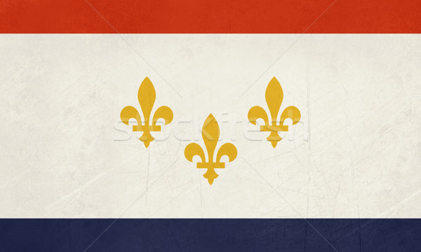 Grunge New Orleans flag Stock photo © speedfighter