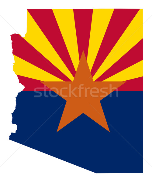 Arizona bandera mapa aislado blanco EUA Foto stock © speedfighter