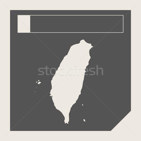 Tayvan harita düğme duyarlı web tasarım yalıtılmış Stok fotoğraf © speedfighter