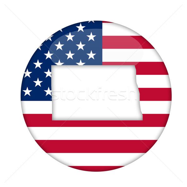 North Dakota state of America badge Stock photo © speedfighter